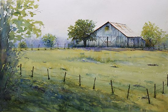 1000 images about barns and old houses and farms on for Watercolor barn paintings
