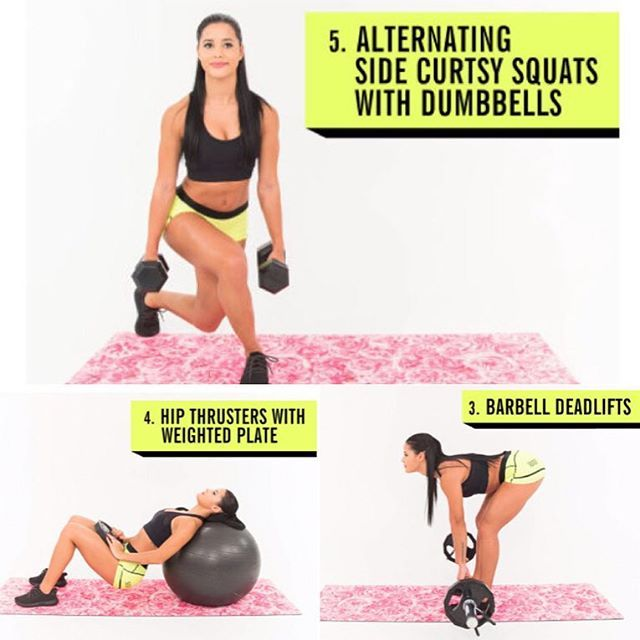 how to build a booty with weights- more weight, less reps, and don't forget to SQUEEZE at the top! up on @cosmopolitan  check it out.