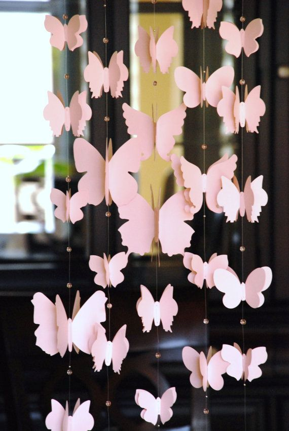 Make a beautiful dangling door display with the help of pretty butterflies and matching beads. #papercrafterpick