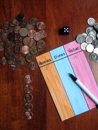 Play Pennies, Dimes, Dollar! Activity
