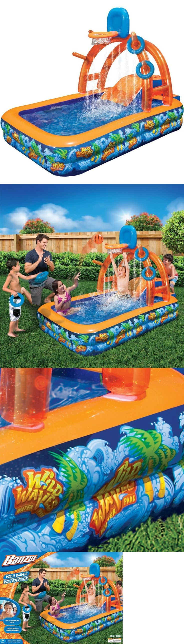 Water Slides 145992: Inflatable Water Slide Bounce House Backyard Pool Kids Bouncer Slide -> BUY IT NOW ONLY: $68.72 on eBay!