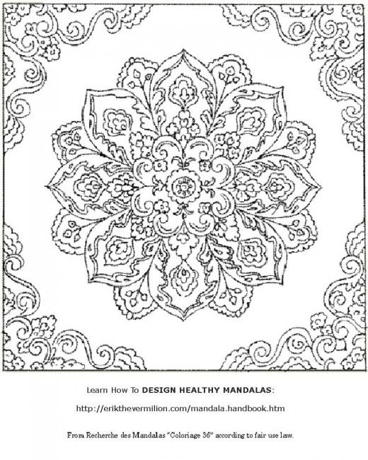 square mandala coloring pages - photo#30