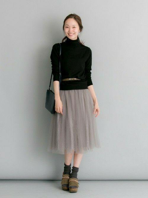 アーバンリサーチ 金沢百番街Rinto店 | mioさんのスカート「URBAN RESEARCH UR チュールセットスカート」を使ったコーディネート