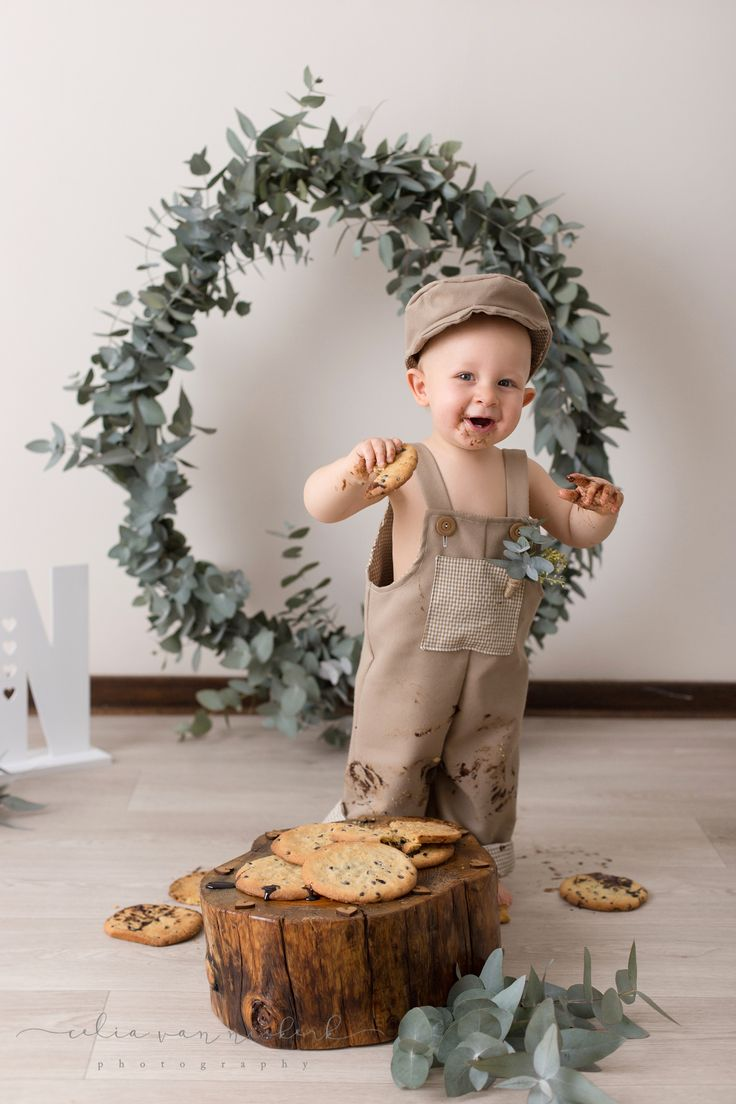mission accomplished! chocolate sauce and cookie crumbs everywhere... Greenery Styling & Giant Choc-Chip Cookies - Pronkertjie Flower & Décor Styling Photographer - Celia van Niekerk Photography