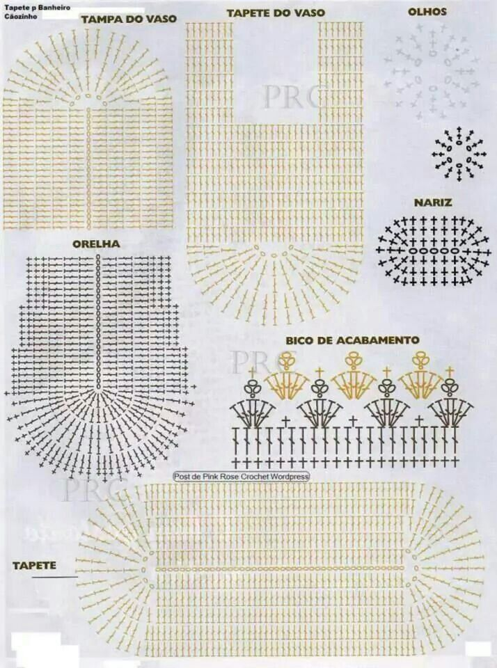 Juegos De Baño Gabys:Juego De Bano Crochet