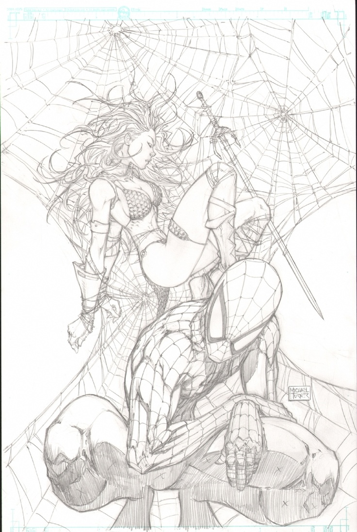Red Sonja, Spiderman by Michael Turner