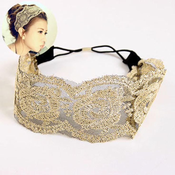 Fashion Korean Style Lace Flower Elastic Headband Hairband Hair Jewelry For Women & Girls Hot Lovely Wedding