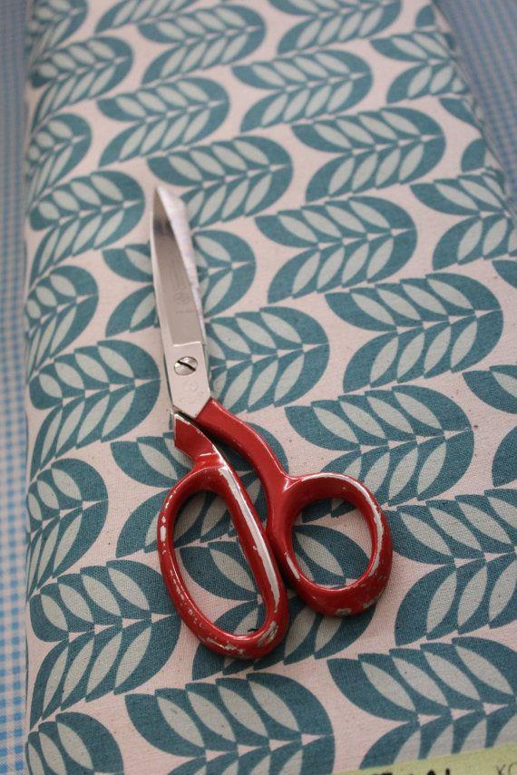 Japanese Kokka Fabric - Leaf Teal