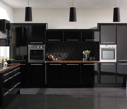 37 mejores im genes sobre cocinas negras y grises en - Cocinas negras y blancas ...