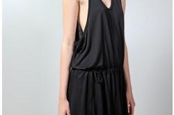 gathered short dress black $62.33