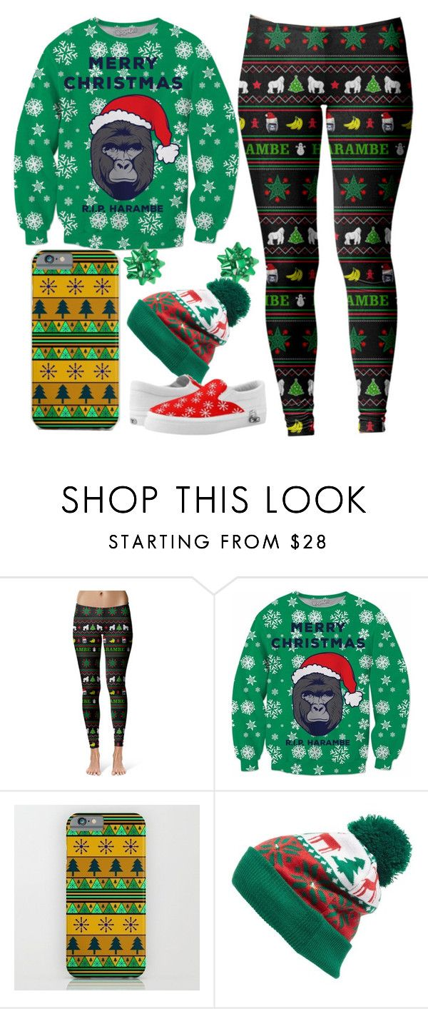 Merry Christmas, R.I.P. Harambe by sunnielovesturtles on Polyvore featuring Collection XIIX