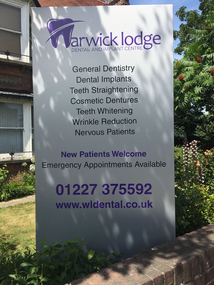 Our signboards looking good outside the practice. Warwick Lodge Dental and Implant Centre 44 Canterbury Road, Herne Bay, Kent. CT6 5DF For an appointment call us on (01227) 375592 #warwicklodgedental #dentist #teeth #hernebay #lovehernebay #molar #canine #teethwhitening #teethstraightening #invisilign #aligners #xray #signboards #generaldentistry #dentalimplants #wrinklereduction #nervouspatients