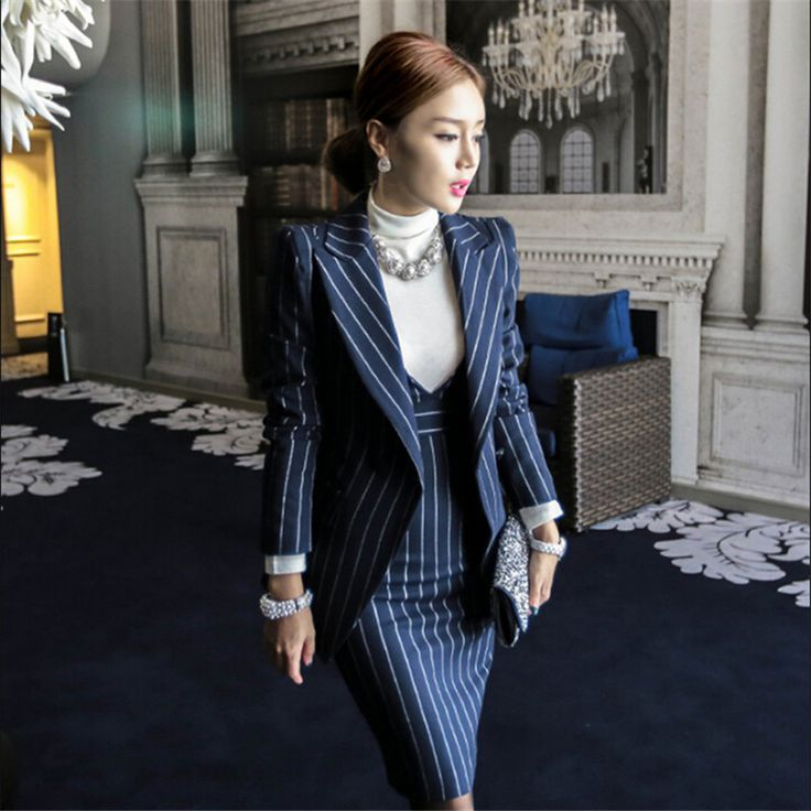 ROKEDISS Women Blazer Suits Elegante With Skirt Cotton Striped Autumn Spring Blazer+Dress 2 Pieces Set For Women Clothes X415-in Skirt Suits from Women's Clothing & Accessories on Aliexpress.com   Alibaba Group