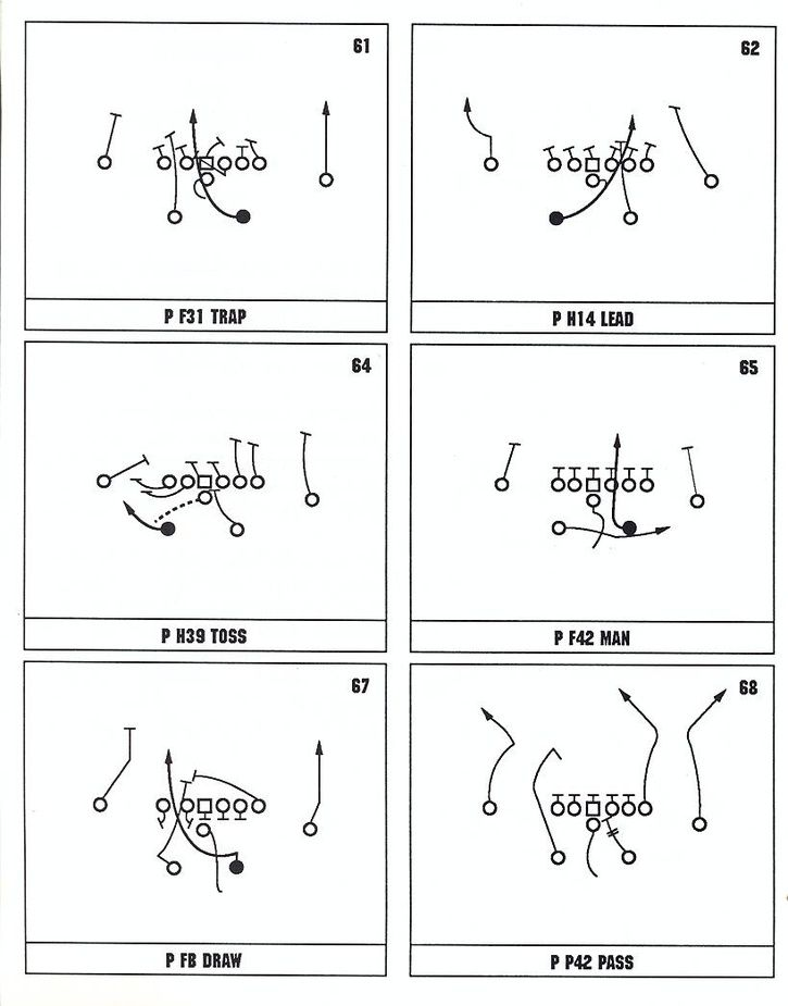 "8 man single wing offense playbook What caused the ""death"" of the single wing offense  from 8 man teams that want to know how my offense would be modified to fit into the 8 man game ."