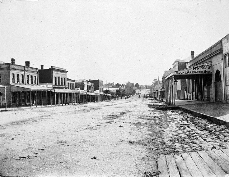 Castlemaine Australia 1800s Mostyn st facing West