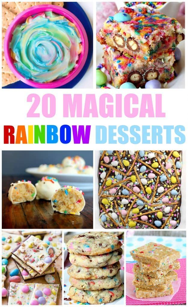 Desserts are so fun and they are even better when you get a little creative with them. These rainbow desserts are the perfect kid friendly desserts. #rainbowdesserts #kidfriendlydesserts #kidfriendly #desserts