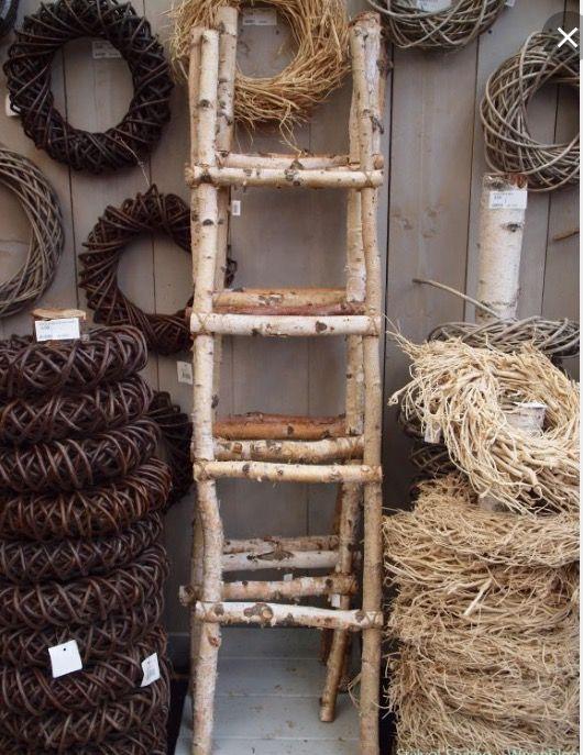 Ladder van berkentakken