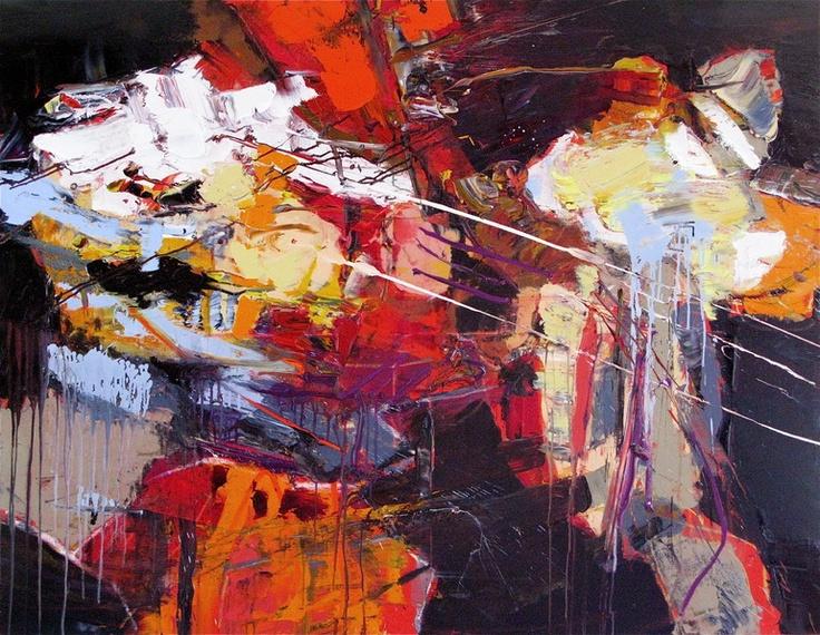 "Saatchi Online Artist: Stricher Gerard; Oil, 2011, Painting """"La Chute d'Icare"""""