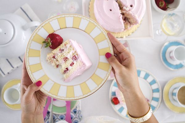 Cake on Noritake Carnivale. Shop Sweet Things by Jeanne.