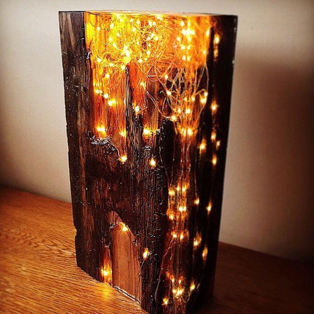 Autumn leaf and resin light sculpture | Etsy | Light