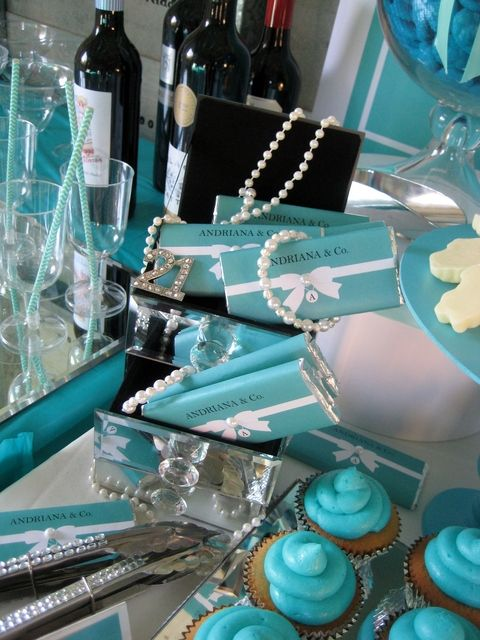 Sweets at a Tiffany's Party  #tiffanys #party