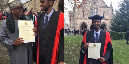 Deji Adeyanju Reacts To News Of Son Of The Head Of Nigerian Universities Commission Graduating From A UK University