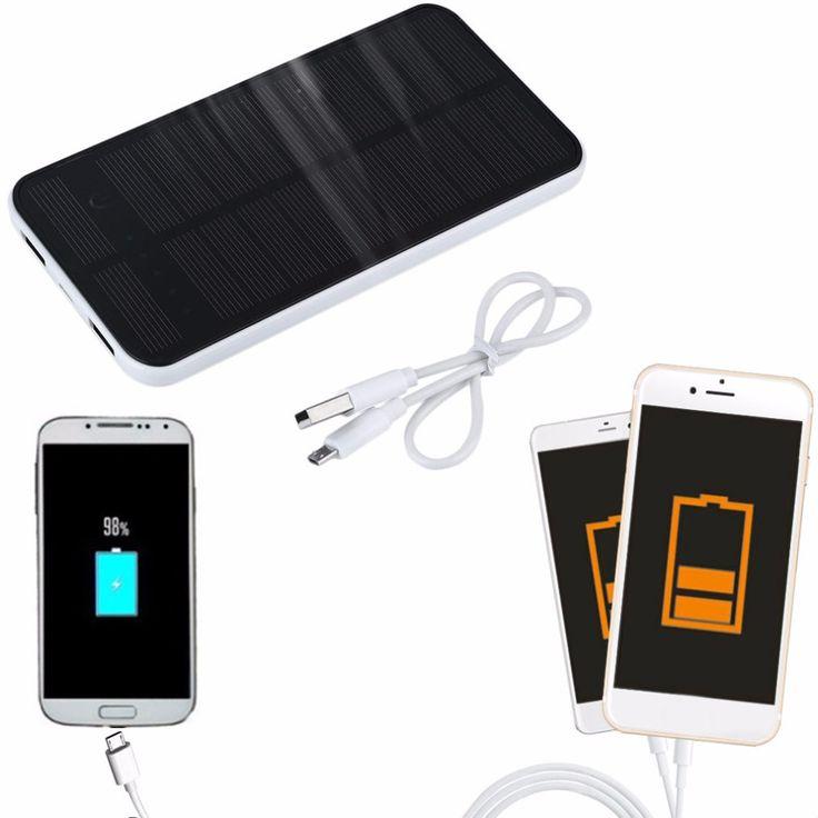 12000 mah Dual USB Banco de la Energía Solar Portátil Cargador de Batería para Todo el Teléfono Celular Del Sostenedor Del Soporte Del Teléfono de Copia de seguridad