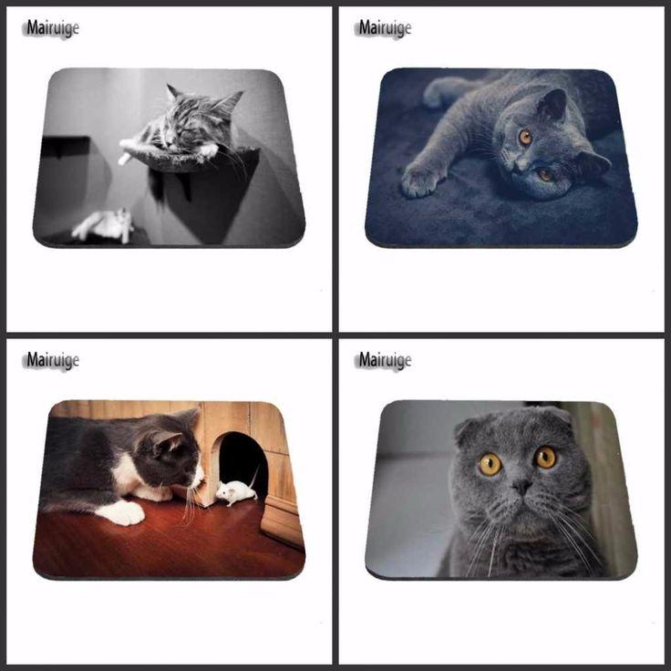 CAT Lunettes de soleil Noir Blanc Tapis de souris d'ordinateur PC Pad–Animal Funny Kitten Cute PWpaUxp