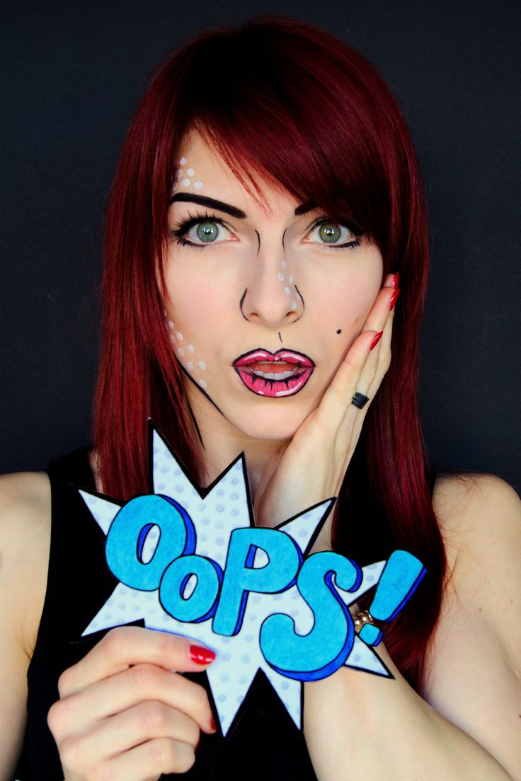 pop art makeup comicbook makeup i create 4 versions of this makeup! i hope you like it :) it's super easy to do !