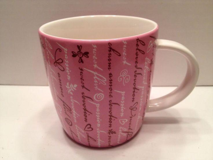 2006 Starbucks Coffee Mug Valentineu0027s Day Sweet Flirt Devotion Pink 16 Oz # Starbucks