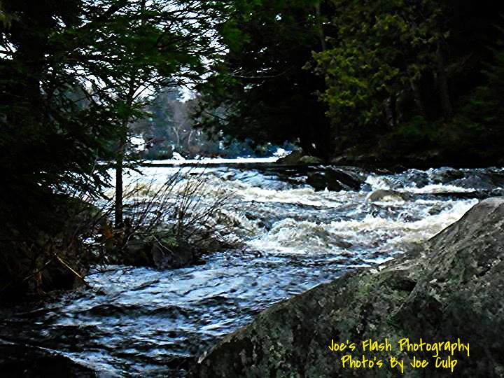 The Chutes rapids flowing from Duck lake to Isabella Lake in orrville Ontario