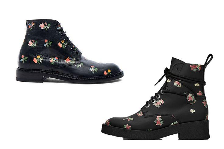 Saint Laurent Vs. Zara http://stylelovely.com/entutiendamecole/2016/12/botas-flores-zara-saint-laurent