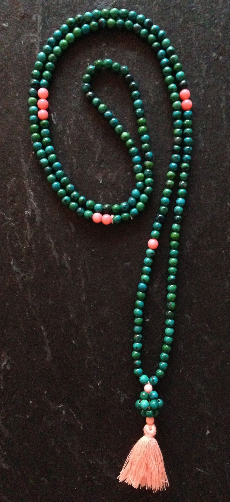 Reuse of beads from a bracelet became a brand new tassel necklace :)
