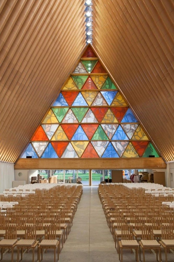 Shigeru Ban | Cardboard Cathedral in New Zealand | tribute to victims of 2011 earthquake