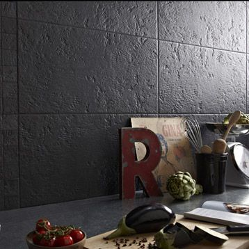 CarrelageVestige ARTENS, grès cérame teinté masse, noir, 30x60cm