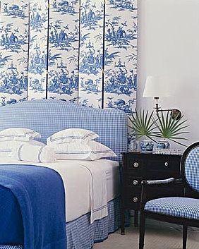Blue and white, gingham and Toile de Jouy