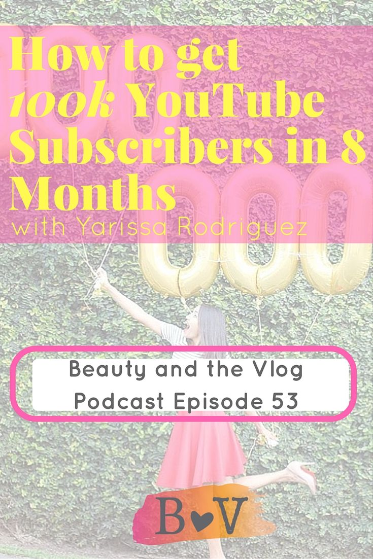 How to Get 100k YouTube Subscribers in 8 Months with Yarissa Rodriguez BV Podcast 53