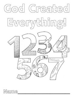 Look to Him and be Radiant: Creation Numbers coloring book.  A page for each day.