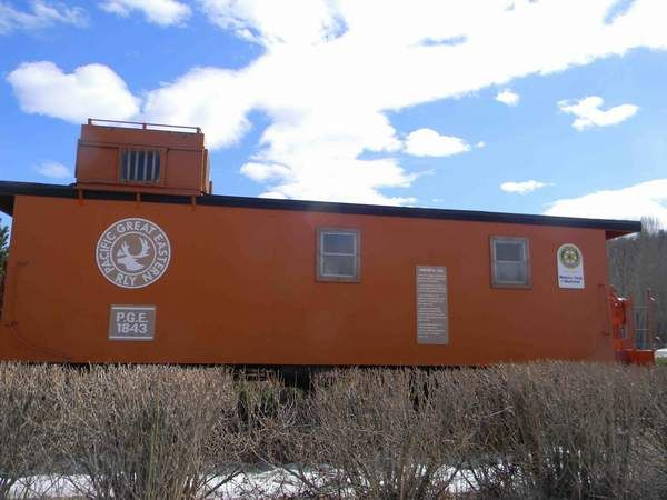 PGE Caboose 1843 at West Fraser Timber Park, Johnson Subdivision, Quesnel, BC.