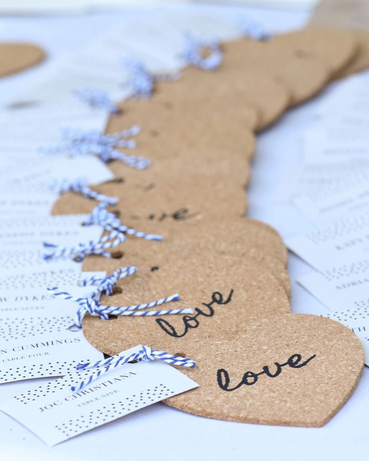 "Love is the central theme when celebrating a bridal shower, wedding reception, or anniversary and these heart shaped cork coasters support the theme perfectly. ""Love"" is delicately scribbled on top of the natural cork material for a modernly elegant and sophisticated look!"