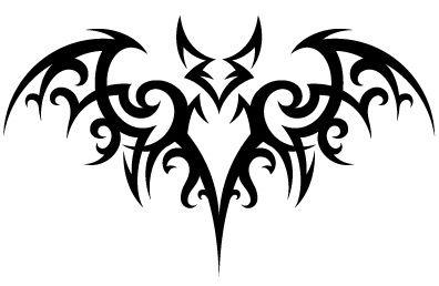 Boceto para tatuaje murciélago