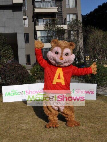 アルビン 歌うシマリス3兄弟のキャラクター着ぐるみ 可愛いシマリスのアルビン着ぐるみhttp://www.mascotshows.jp/product/alvin-chipmunk-mascot-adult-costume.html