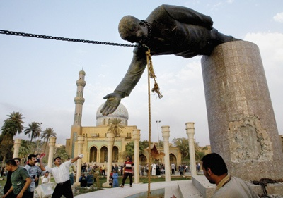 The toppling of Saddam Hussein's statue in Baghdad - 2003