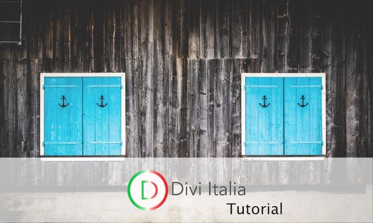 Tutorial Divi 3.0 -Anchor links,come usarli per spostarci all'interno di una pagina-#divi #divitutorial #divitutorialitaliano #divibuilder #diviwordpress
