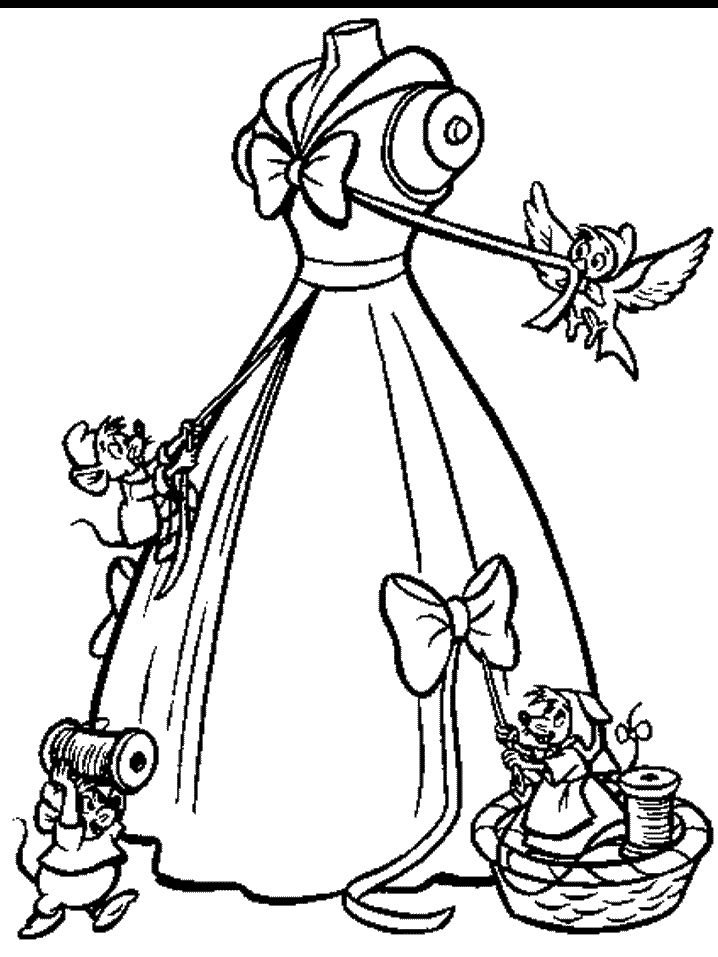 Cinderella coloring pages - Cinderella - Disney - cute princess