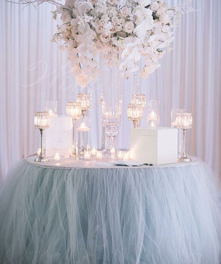 Tulle table skirt!