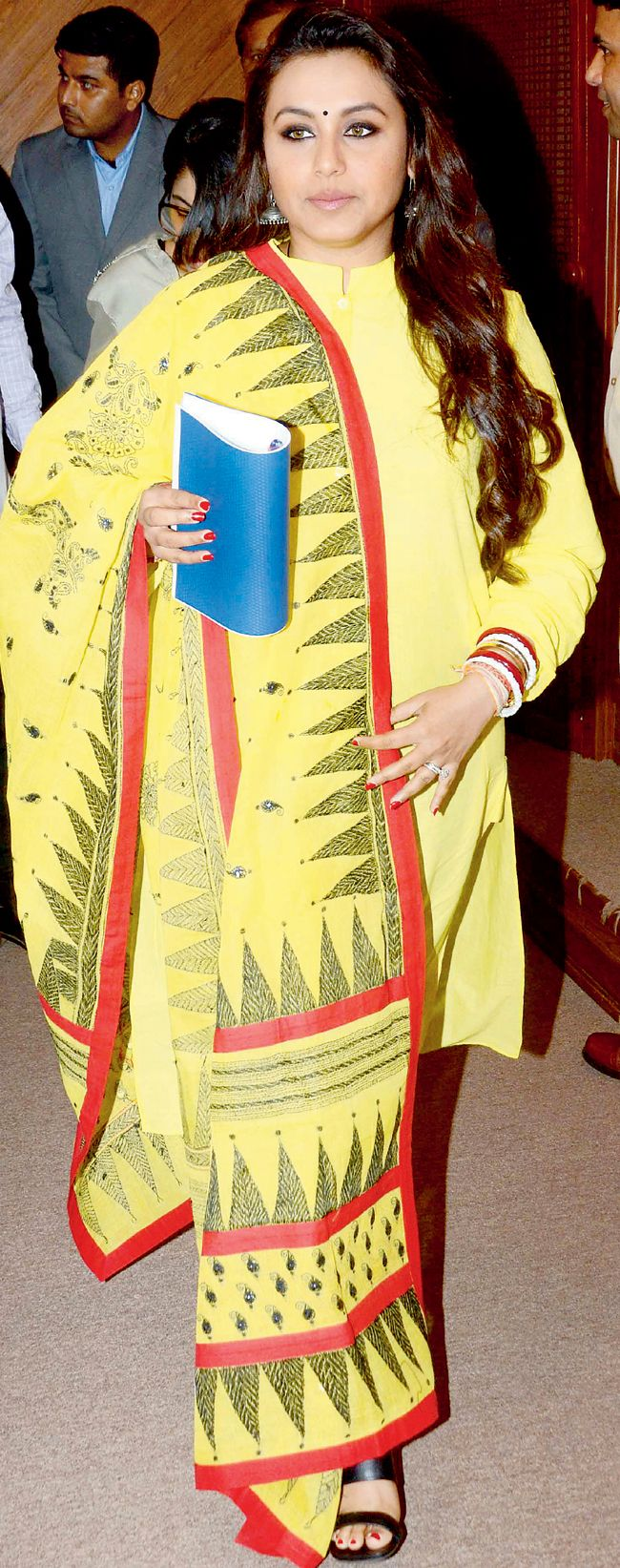 Rani Mukerji at the launch of a Mumbai traffic police initiative 'Make Way for Ambulance'. #Bollywood #Fashion #Style #Beauty