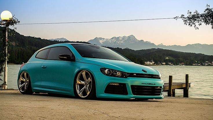 2014 VW Scirocco Wrapped in Matt Caribbean Metallic - http://www.modifiedcars.com/cars/540193/vw-scirocco-wrapped-in-matt-caribbean-metallic