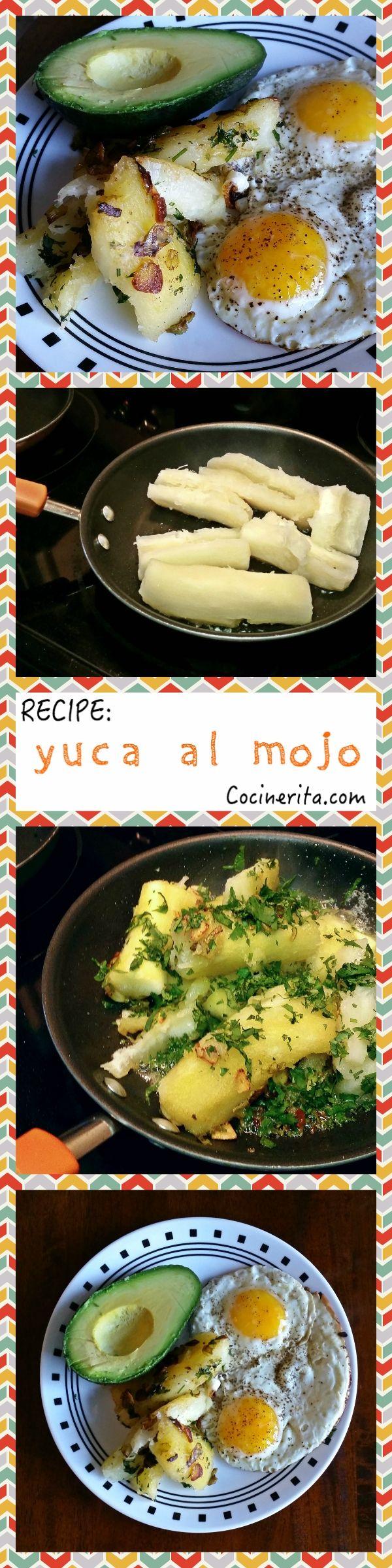 Recipe / Receta de Yuca Al Mojo Panamanian / Caribbean Food