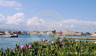 Harbor in Chania, Western Crete, Greece